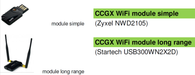 CCGX WiFi module long range